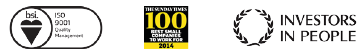 ISO9001 | Sunday Times top 100 companies | Investors in People